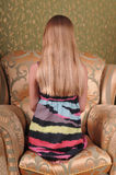 Long blond hair portrait Stock Image