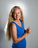 Long blonde hair Stock Image