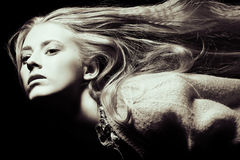 Long blonde hair Royalty Free Stock Images