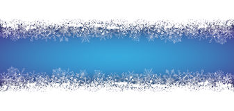 Long Blue Christmas Card Snowflakes Royalty Free Stock Images