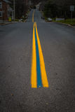 Long Blue Line on Town Street Support Police Royalty Free Stock Images