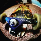 Long board love. Fish eye license attachment for sell stock photo