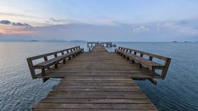 The long boardwalks Royalty Free Stock Images