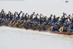 Long boat competition in Thailand Royalty Free Stock Photography