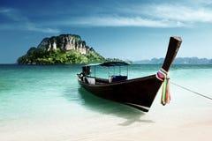 Long boat and poda island Stock Photography