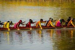 Long boat racing Royalty Free Stock Photo