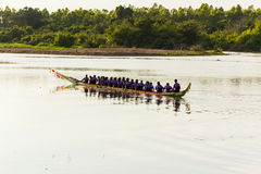 Long boat racing Stock Images