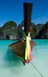 Long boats in thiland Royalty Free Stock Photo