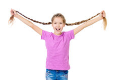 Long braids Royalty Free Stock Images