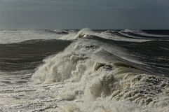 Long breaking waves Royalty Free Stock Images