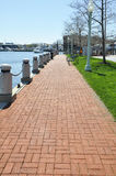 Long brick walkway Stock Photo