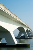 Long Bridge. A Bridge crossing a wide river Royalty Free Stock Photos