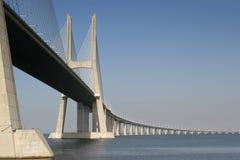Long Bridge 5. View of one of Lisbon's bridges Royalty Free Stock Photography