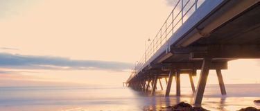 Long bridge Stock Image