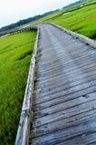Long Bridge and Grass Stock Photography