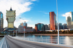 Long bridge in macao. At day Stock Photo