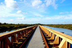 Long bridge in nature Royalty Free Stock Photo
