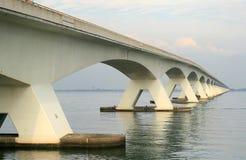 Long bridge in the Netherlands Stock Image
