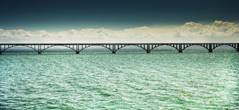 Long bridge over the sea Stock Photo