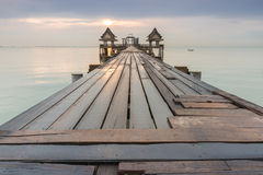 Long bridge over the sea Royalty Free Stock Photography