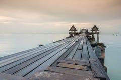 Long bridge over the sea Stock Photography