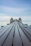 Long bridge over the sea Stock Image