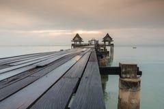 Long bridge over the sea Stock Photos