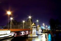 Bridge at night Royalty Free Stock Photos