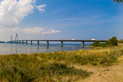 Long bridge in Sweden. Country Stock Photo