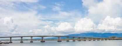 Long bridge in thailand Stock Photography
