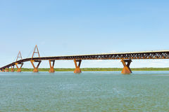 The long bridge to yellowknife Stock Photo