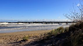 Long Bridge With Windy Weather royalty free stock image