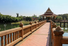 Long brigde Thai style Royalty Free Stock Photos