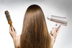 Long Brown Hair Stock Images