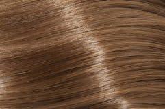 Long brown straight hair Stock Photo