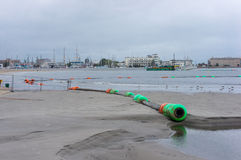 Long cable beach Stock Images