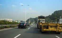 Long camion chinois de véhicule photographie stock libre de droits