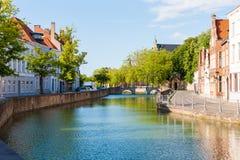 Langerei Canal, Bruges, Brugge, Belgium Royalty Free Stock Images