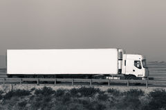 Long cargo truck on the road Stock Photography