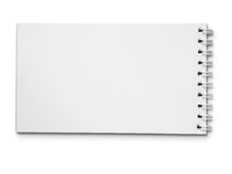 Long carnet blanc blanc horizontal Photographie stock