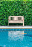 Long chair decorate swimming pool Stock Photos
