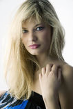 Long cheveu blond Photographie stock