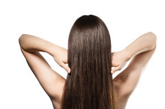 Long cheveu brun Photo stock