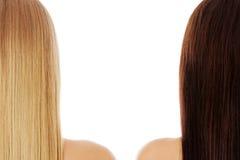 Long cheveu coiffure Salon de coiffure Femme avec les cheveux sains Photo libre de droits