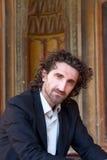 Long cheveu d'homme photographie stock