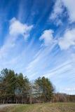 Long ciel de cirrus photo stock