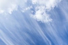 Long cirrus clouds skyscape Royalty Free Stock Image
