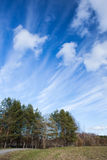 Long cirrus clouds skyscape Stock Photo