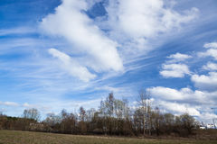 Long cirrus clouds skyscape Stock Photography
