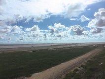 The long coastal view. Lytham st Anne& x27;s Stock Photos